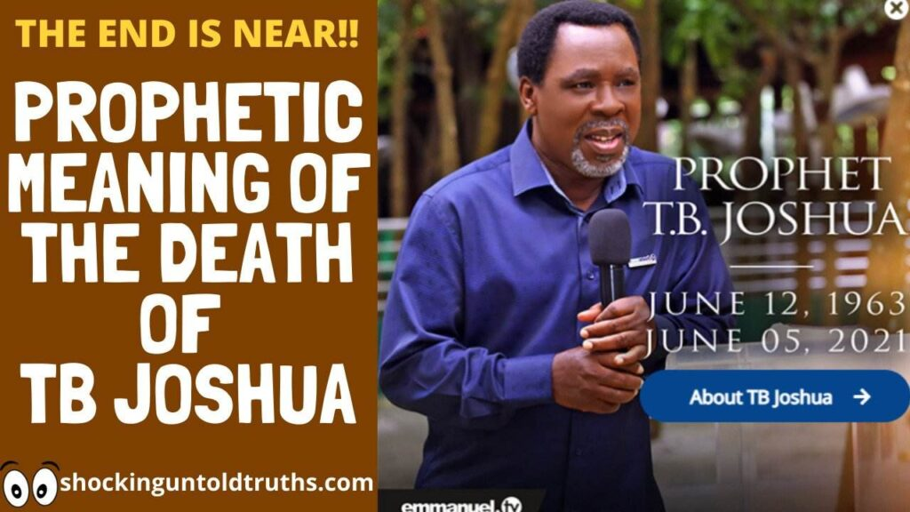 TB Joshua's Sudden Death:😱😱END-TIMES PROPHETIC MEANING FOR THE ISRAELITES-AFRICANS!!